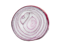 Red onion half Stock Images