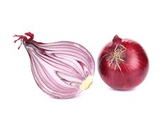 Red onion and half. Stock Photography
