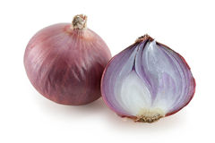 Red Onion halve Royalty Free Stock Photography