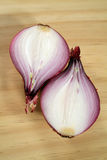 Red Onion Halves Stock Photography