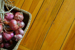 Red onion and herb Royalty Free Stock Photo