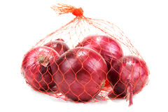 Red Onion In Packing From Red Net Royalty Free Stock Image
