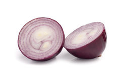 Red onion isoalted on white Stock Photos