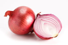 Red onion isolated on white. Stock Images