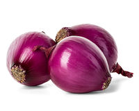 Red onion isolated on white Stock Photography