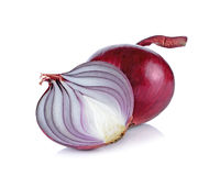 Red onion isolated on the white background Stock Image