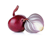 Red onion isolated on the white background Royalty Free Stock Photography