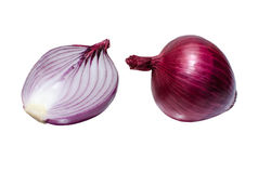 Red onion isolated on white Stock Images