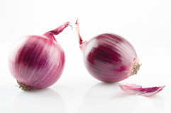Red onion. Isolated on white background Stock Photo