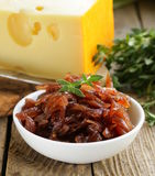 Red onion marmalade with thyme Royalty Free Stock Image