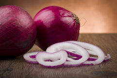 Red Onion rings Stock Photos