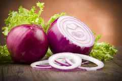 Red Onion rings Royalty Free Stock Photo