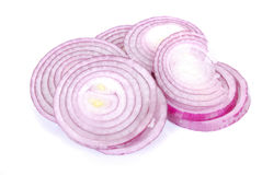Red onion rings sliced Royalty Free Stock Photography