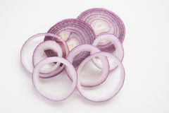 Red onion rings, Tropea onion. From Calabria Italy Royalty Free Stock Photo