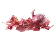 Red Onion and Skin Stock Photos