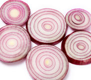 Red onion slices Stock Photography