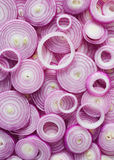 Red Onion Slices. Sliced red onion rings Royalty Free Stock Photos
