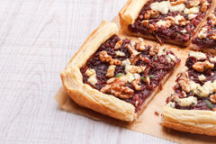 Red onion tart Royalty Free Stock Photography