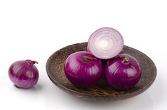 Red onion thai name (Allium ascalonicum) Royalty Free Stock Image