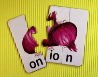 Red onion toy Royalty Free Stock Photography