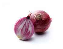 Red onion vegetable bulbs. On white background Stock Image