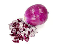 Red onion  on white background Royalty Free Stock Photo