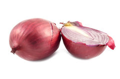 Red onion on a white background Stock Photography