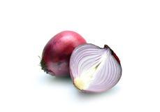 Red onion on white Stock Photo