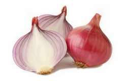 Red onion on white Stock Photography