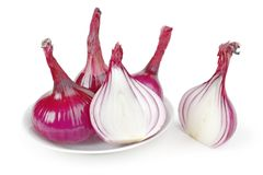 Red onions Stock Photography
