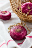 Red onions Royalty Free Stock Photography