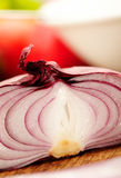 Red onions Royalty Free Stock Images