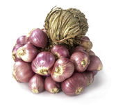 Red onions. Sometimes called purple onions, are cultivars of the onion with purplish red skin royalty free stock images