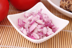 Red onions. Some fresh prepared red onions Royalty Free Stock Photos