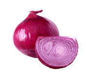 Red Onions. One and a half red onions Stock Photos