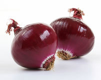 Red onions (allium) Stock Photos