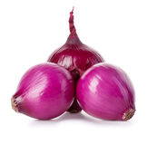 Red onions close-up isolated on a white Royalty Free Stock Image