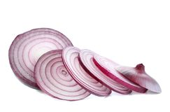 Red onions,isolated. Royalty Free Stock Photography