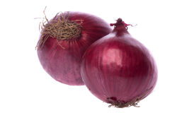 Red Onions Isolated Stock Images