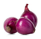 Red onions isolated on white Stock Photography