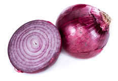 Red Onions (isolated on white) Stock Photography