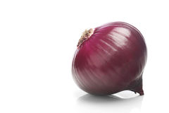 Red onions over white background Stock Image