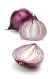 Red onions over white background Royalty Free Stock Photos