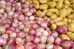 Red Onions And Potatoes Royalty Free Stock Images