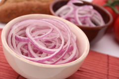 Red Onions. Some fresh red onions rings Royalty Free Stock Photography