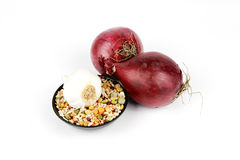 Red Onions and Soup Pulses Royalty Free Stock Photo
