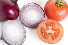 Red Onions and Tomatoes Stock Image