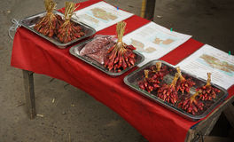 Red onions for traditional medicine taken in Bogor Indonesia Stock Photo