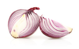 Red Onions on White Background royalty free stock photo