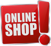 Red online shop button Stock Image